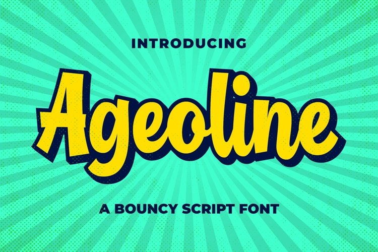 Ageoline Bouncy Script Font example image 1