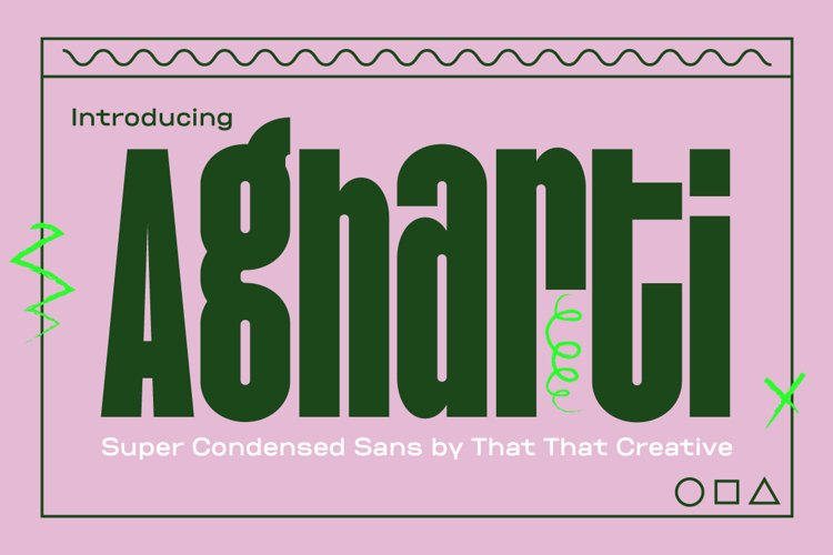 Agharti Bold Display Font example image 1