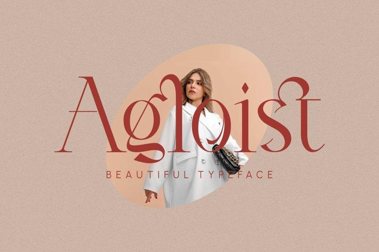 Agloist _ Beautiful Typeface example image 1