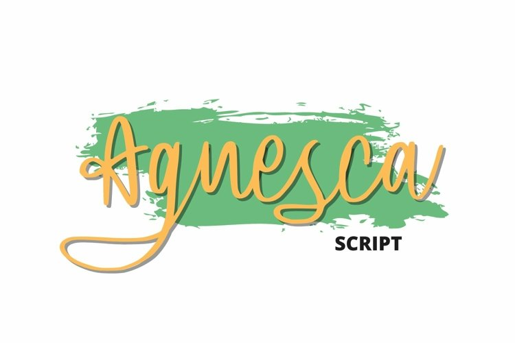 Web Font Agnesca Font example image 1