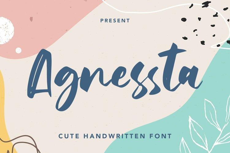 Web Font Agnessta - Cute Handwritten Font example image 1