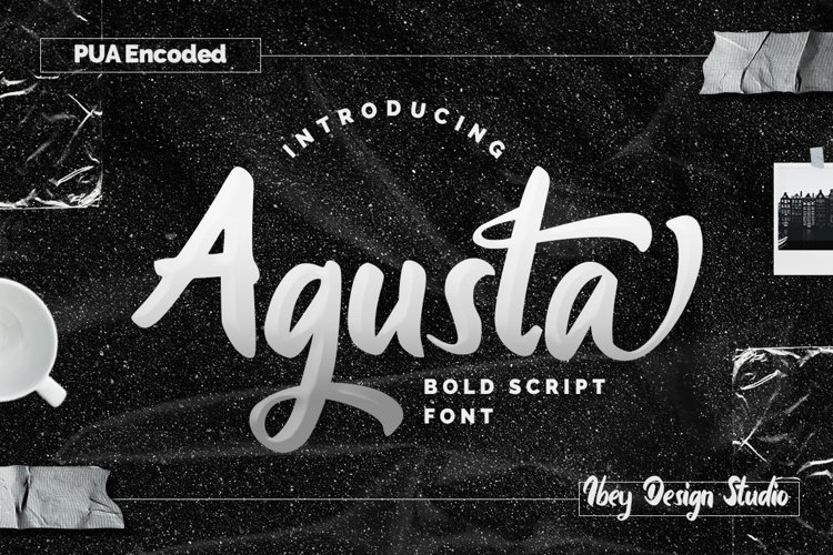 Agusta - Bold Script Font example image 1