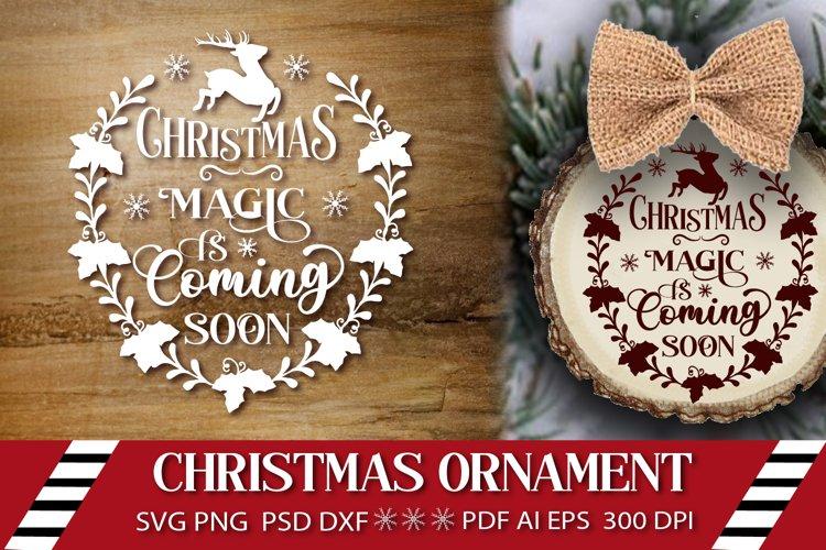 Christmas Ornament SVG. Cut File SVG. Merry Christmas Design