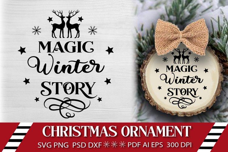 Christmas SVG. Christmas Ornament SVG. Cut File SVG.