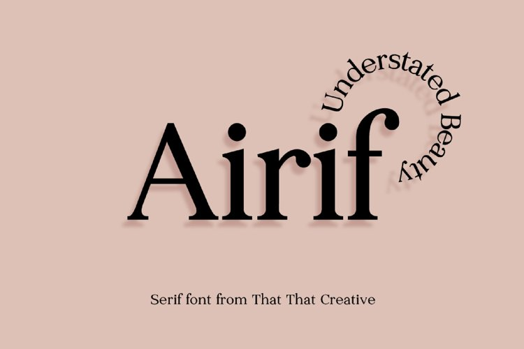 Airif Font Duo example image 1