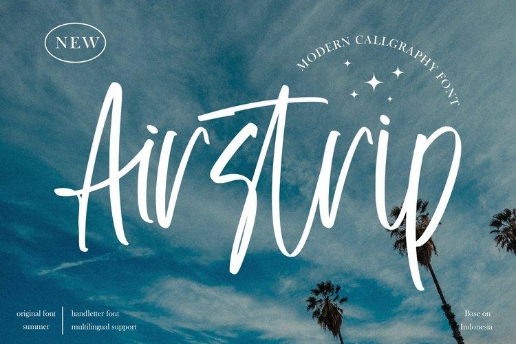 Web Font Airstrip - Modern Callgraphy Font example image 1