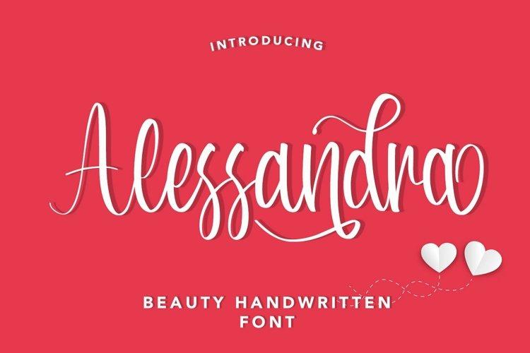 Web Font Alessandra - Beauty Handwritten Font example image 1