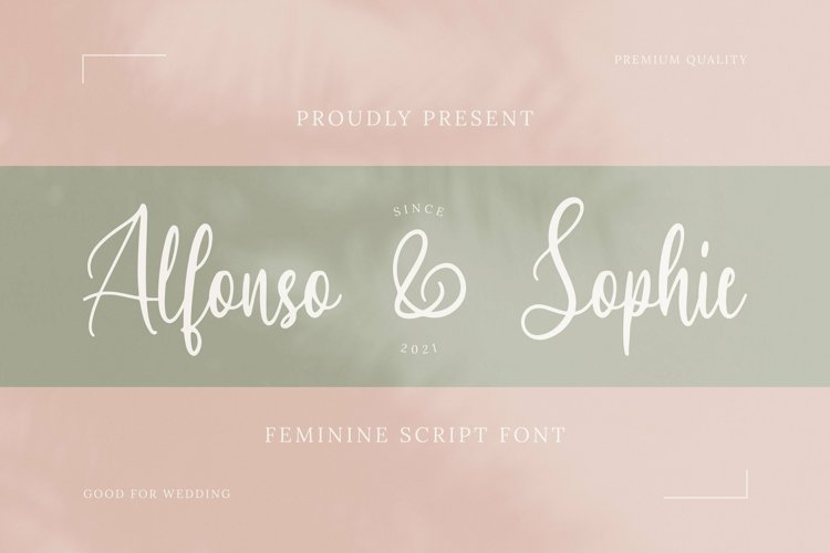 Web Font Alfonso & Sophie example image 1