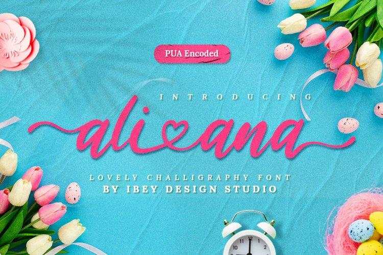 Ali Ana - Heart Font