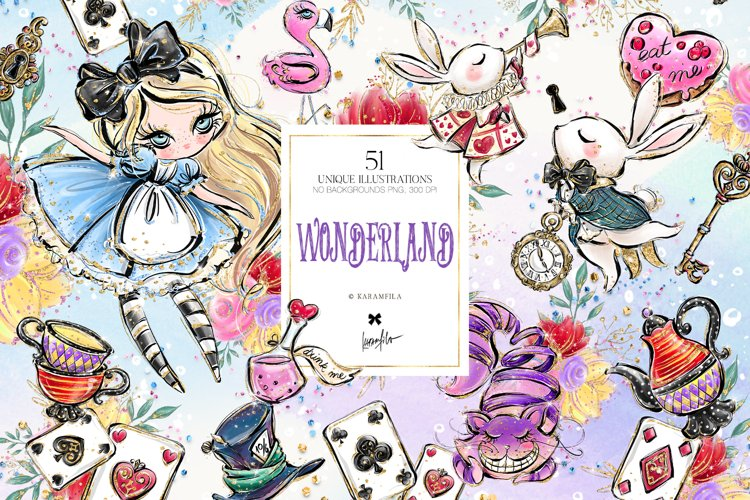 Alice in Wonderland Clipart example image 1