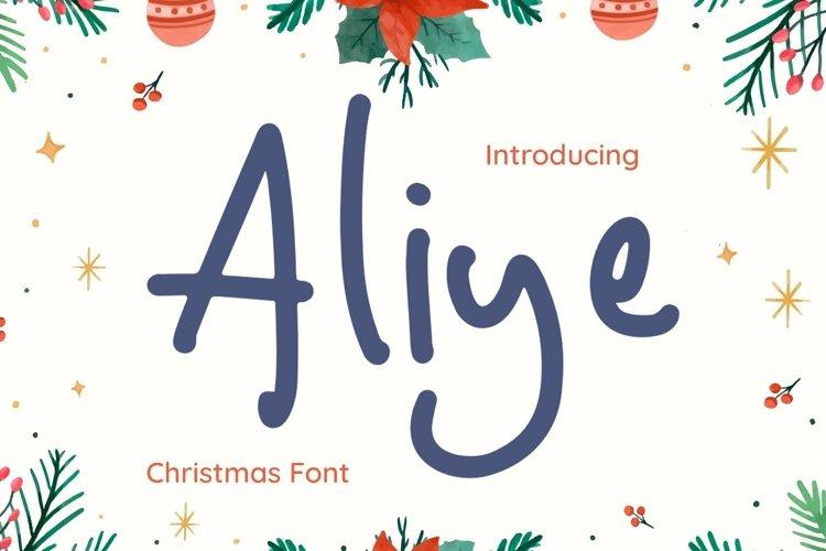 Web Font Aliye example image 1