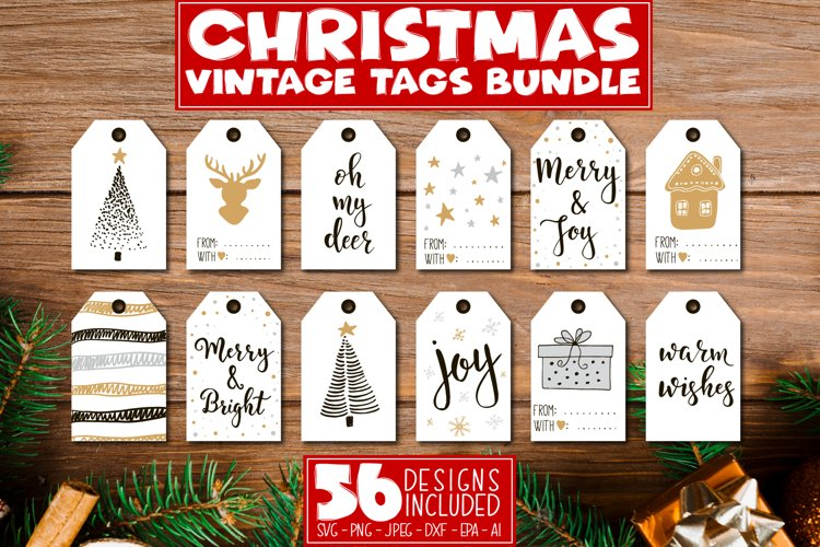 Christmas Tags Bundle - Print and Cut Gift Stickers