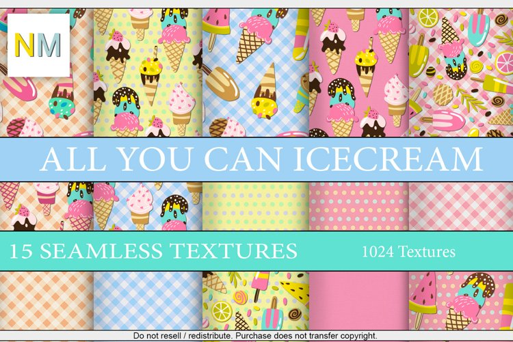 All You Can Icecream 15 Mix And Match Seamless Fabrics
