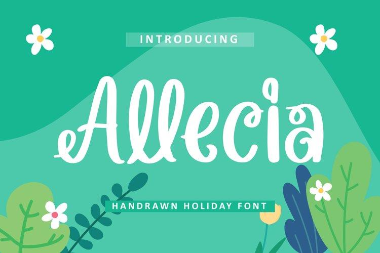Allecia - Handrawn Holiday Font example image 1