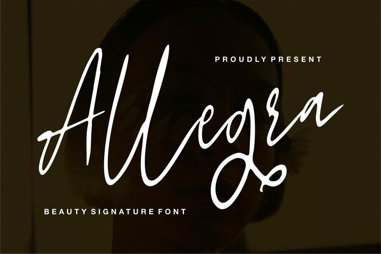 Web Font Allegra - Beauty Signature Font example image 1