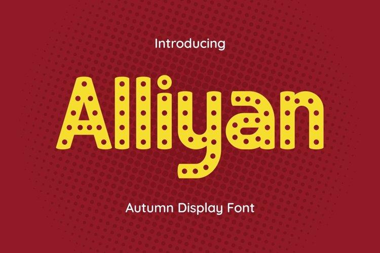 Web Font Alliyan example image 1