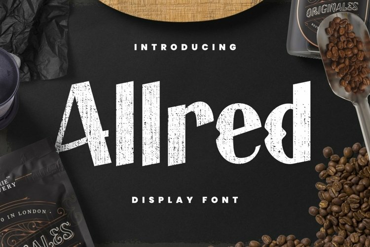 Web Font Allred Font example image 1