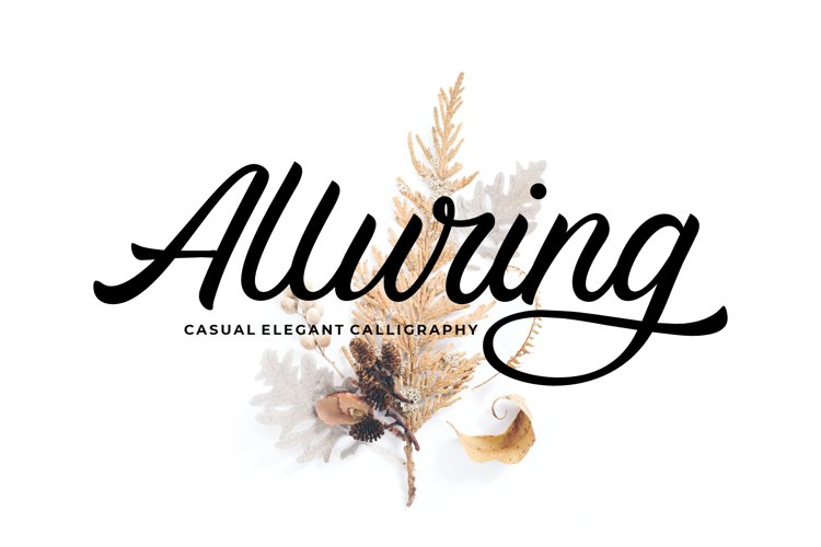 Alluring Calligraphy Fonts example image 1