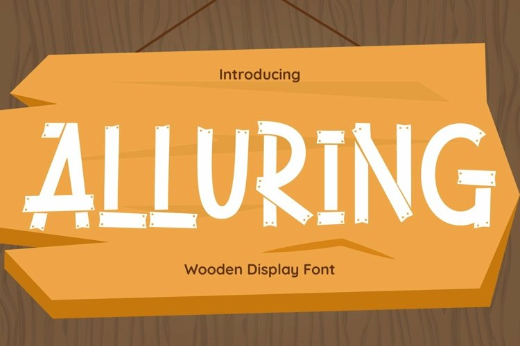 Web Font Alluring example image 1
