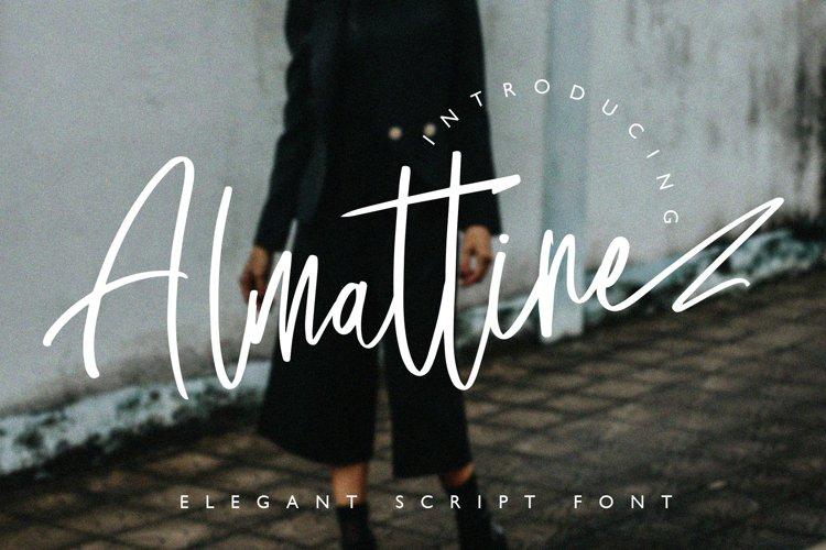 Almattine - Elegant Script Font example image 1