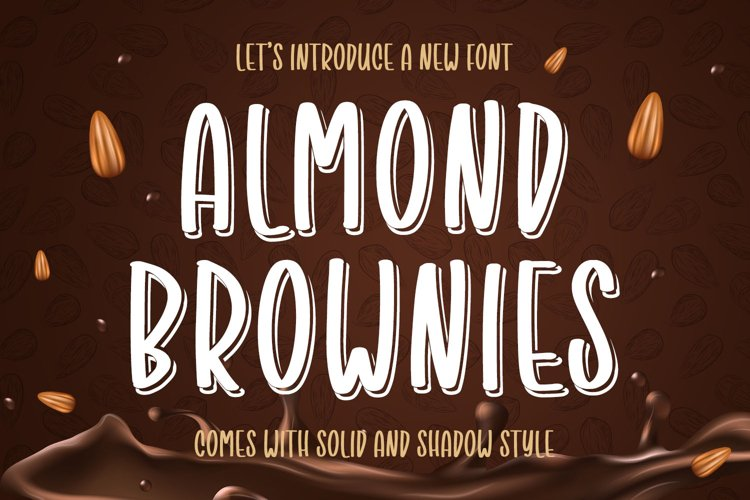 Almond Brownies - Playful Font example image 1