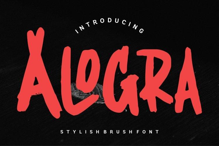Web Font Alogra - Stylish Brush Font example image 1