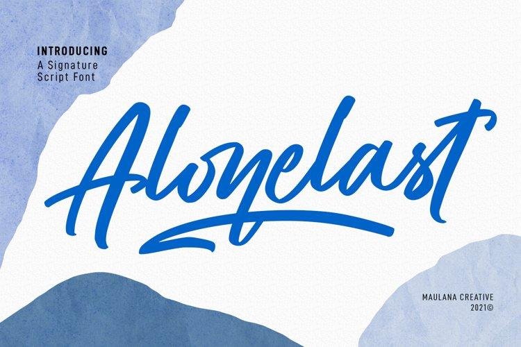Alonelast Signature Script Font example image 1
