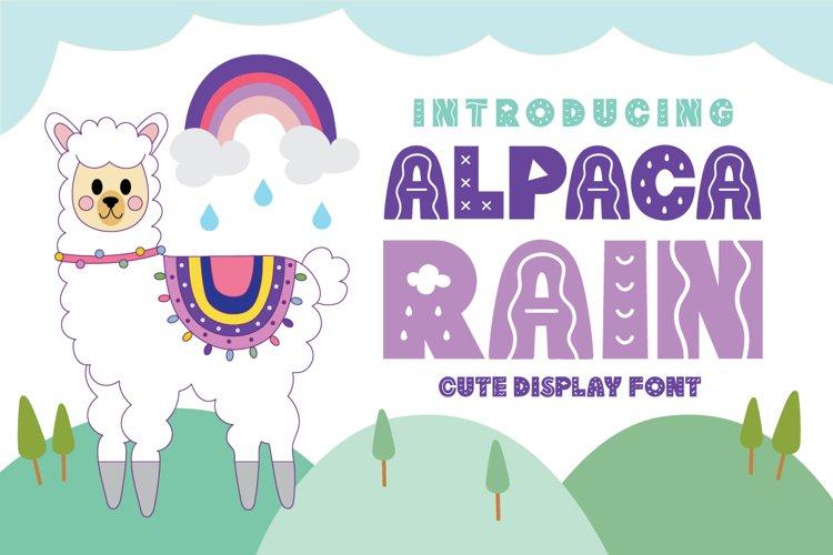 Alpaca Rain example image 1
