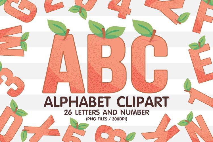 Peach Clipart Alphabet Sublimation PNG