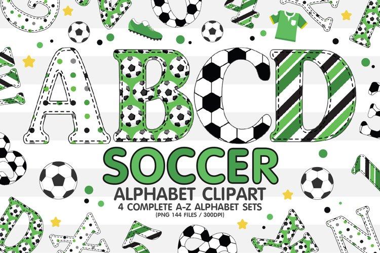 Football Soccer Alphabet Clipart, Letters Sublimation Set