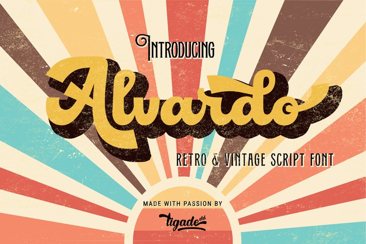 Alvardo - Retro Script Font- Best Vintage Font