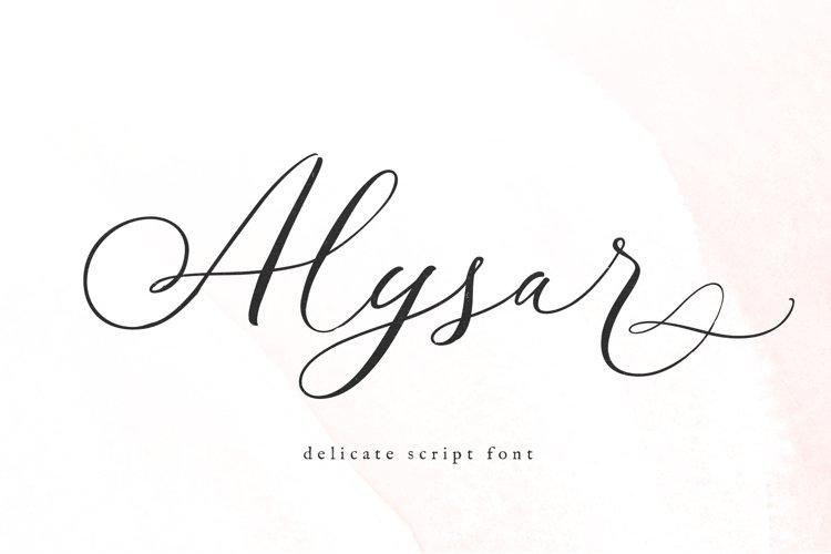 Alysar - Modern Calligraphy Script Font