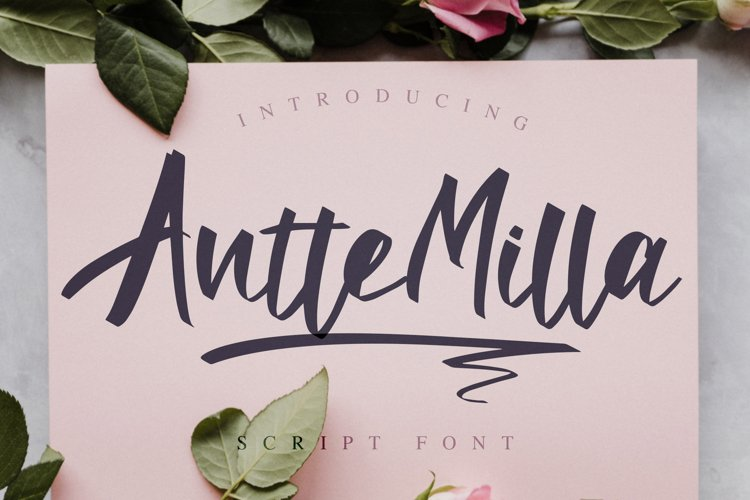 Antte Milla - Elegant Script Font example image 1