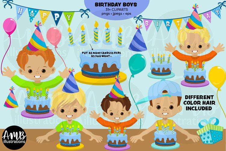 Birthday boys clipart pack, AMB-2976