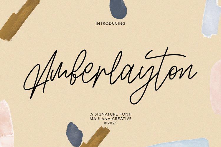 Amberlayton Signature Font example image 1