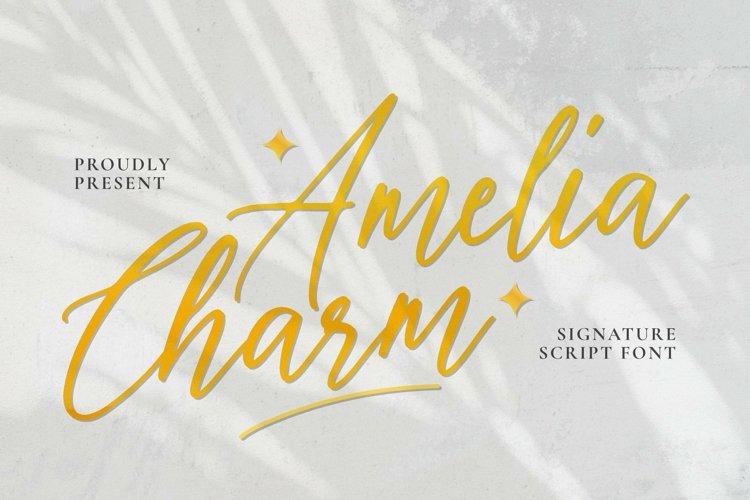 Web Font Amelia Charm Font example image 1