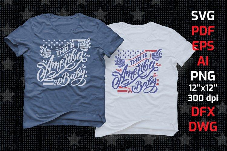 Tshirt American patriotic lettering SVG 4th of july usa flag