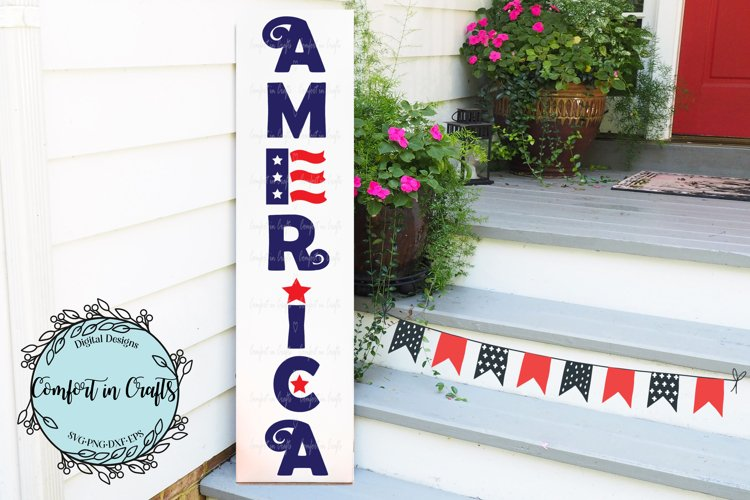 America Vertical SVG design