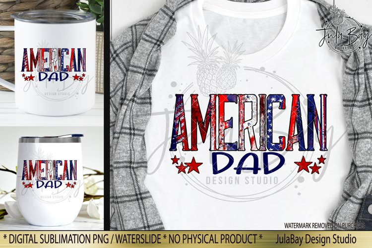 American Dad Sublimation Design with Brush Strokes Stars Stripes and Glitter Tshirt Sublimation Design