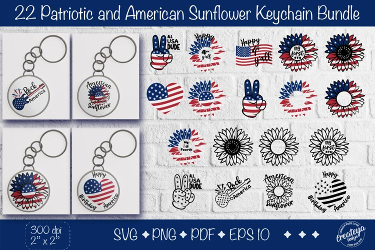 Patriotic Keychain svg bundle Fourth of July keychain