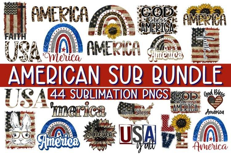 AMERICAN SUBLIMATION BUNDLE - 44 DESIGNS - PNG 300 DPI example image 1