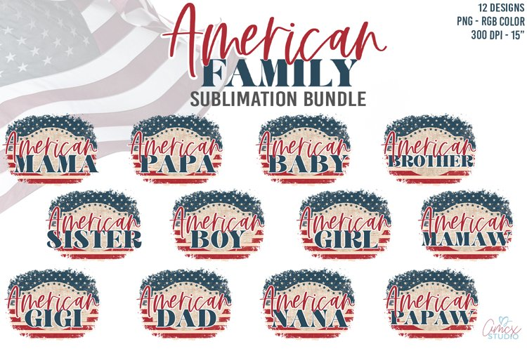 American Family Sublimation Bundle - 4th of july sublimation