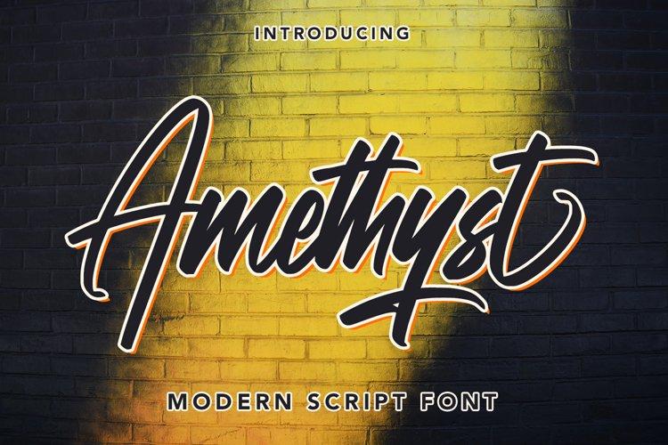 Amethyst - Modern Script Font example image 1