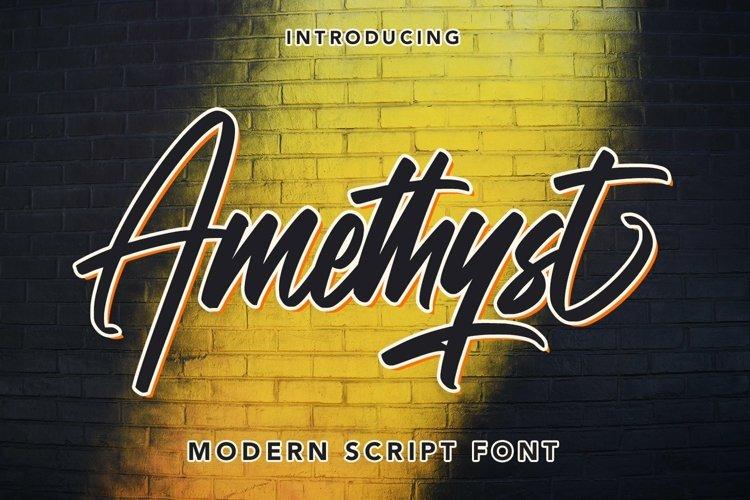 Web Font Amethyst - Modern Script Font example image 1