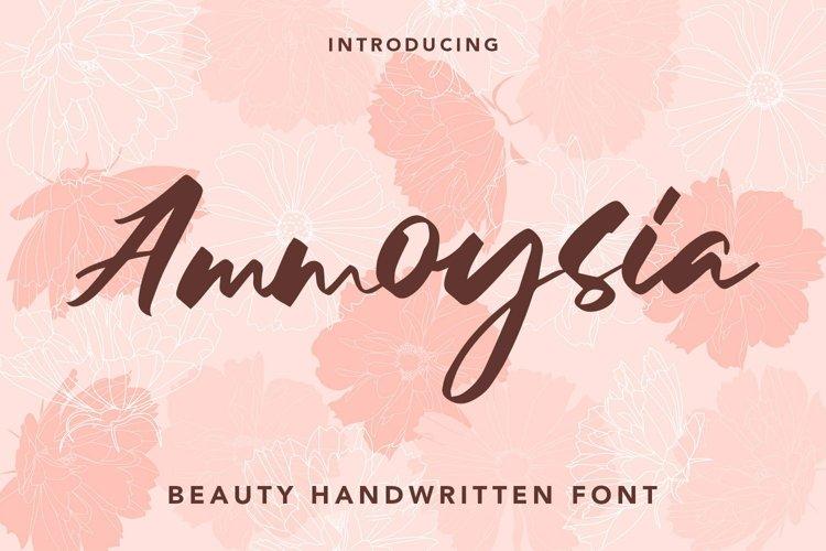 Web Font Ammoysia - Beauty Handwritten Font example image 1