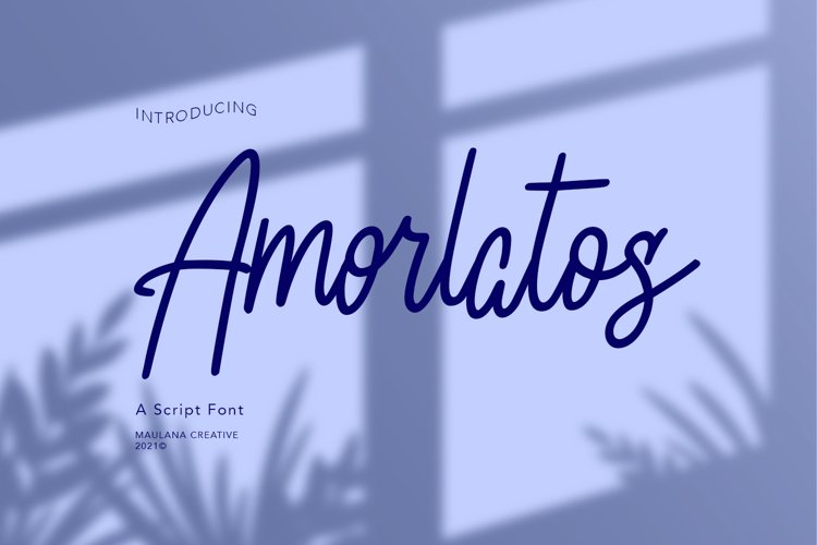 Amorlatos Script Font example image 1