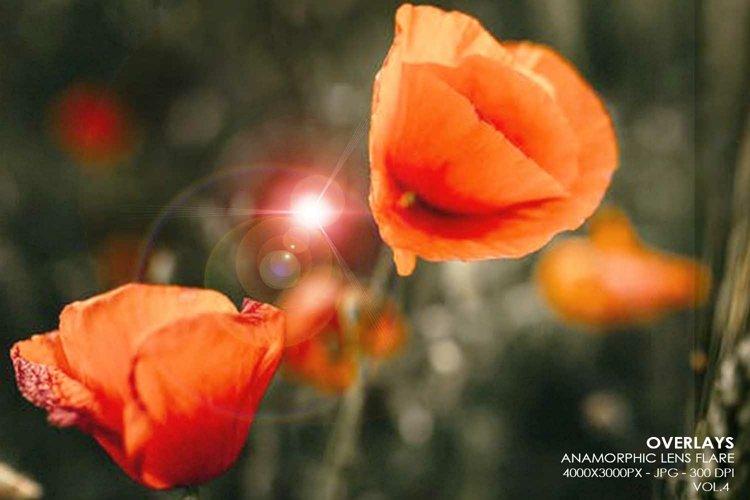 20 Anamorphic Lens Flare Overlays - Vol.4