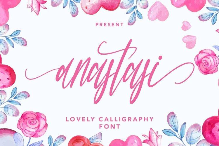 Web Font Anastasi - Lovely Calligraphy Font example image 1