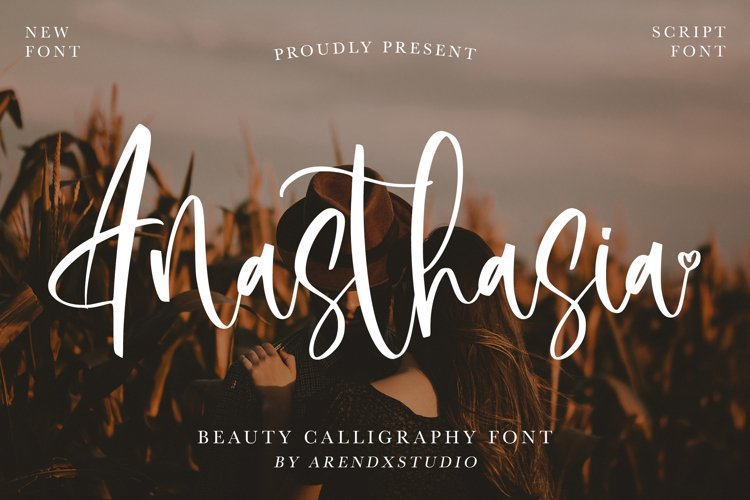 Anasthasia - Beauty Calligraphy Font example image 1