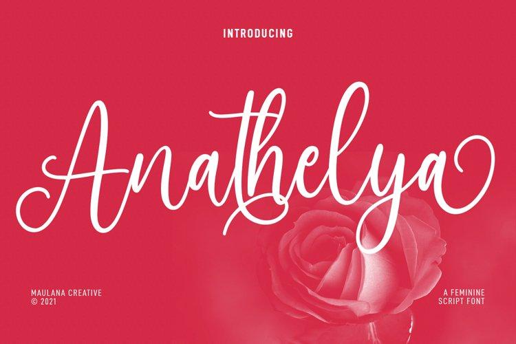 Anathelya Feminine Script Font example image 1